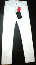 New NWT 30 x 34 Mens Designer Spurr Pipe Jeans USA White Logo Belt Patch Slim image 1
