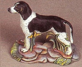pyop Blue Tick or Red Tick Coonhound Dog on a Rock Base U-Paint Ceramic ... - $9.99