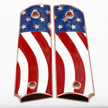 American Flag 1911 Grips FULL SIZE Metal GRIPS Ambi Safety Rose Gold Pla... - $59.00