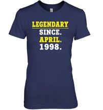 Legendary Since April 1998 Shirt 20th Birthday Gifts image 2