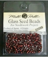 Mill Hill Glass Beads for Needlework Projects 02099 Ruby - $1.25