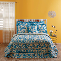 Briar Azure California King Quilt Set - 3 Pieces - Sale Priced - $30 Off - Vhc