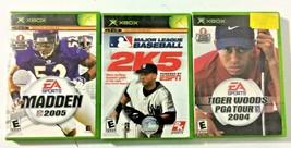 Lot of 3 Microsoft Original Xbox Sports Video Games (NFL, MLB, & Golf)  - $0.99