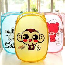 Cartoon Portable Laundry Storage Basket Foldable Clothes Mesh Bag - $18.66
