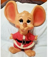 Vintage 1970s Huron Products Hard Plastic Big Ears Mouse Christmas Bank - $1.99