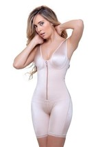 Vedette 944 Celeste, Front Zipper Compression Garment, spandex/lycra, co... - $60.79