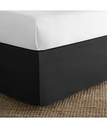 """Today's Home Tailored Bed Skirt FULL 14"""" Drop BLACK *NEW - $9.89"""