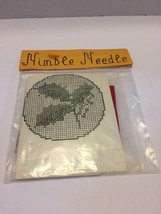 Nimble Needle Counted Cross Stitch Kit Hand Painted 12 Mono Canvas Flowers - $4.99