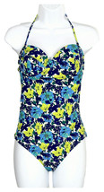 J Crew Women's D-Cup Retro Floral Underwire One Piece Swimsuit Sz 2 B9404 - $32.19