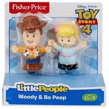 Fisher Price Toy Story 4 Little People Woody & Bo Peep Figure 2-Pack - $32.36
