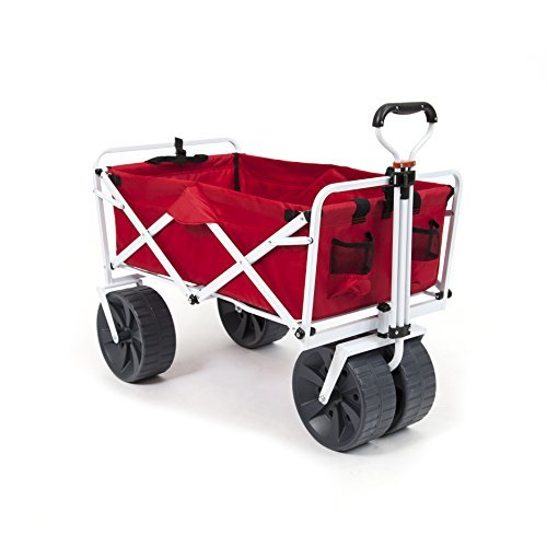 Mac Sports Heavy Duty Collapsible Folding All Terrain Utility Wagon Beach Cart -
