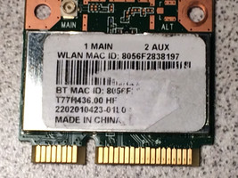Acer Aspire E5-521 E5-521-83CV Wi-Fi Wireless Adapter Card BGN+BT4.0 QCW... - $13.36