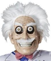 Mad Scientist Mask Adult Googly Eyes Bushy Eyebrows Moustache Mustache M... - $32.99