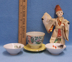 5 VINTAGE MADE IN JAPAN CUP BOWLS FIGURINE CHINA LOT - $13.85