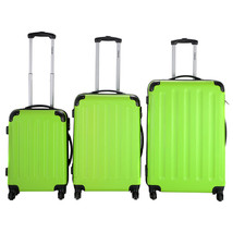 NEW! Travel Luggage Set Bag ABS Trolley Suitcase 3 Pcs Light Green - $135.58