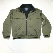 Ralph Lauren Polo Sport Jacket Mens L Olive Green Fleece Lined Full Zip ... - $28.04