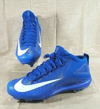 Nike Zoom Trout 3 Baseball Cleats 856503-447 Mens Size 12 Blue White  - $23.36