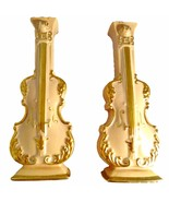 Set of 2 Mid Century Goldra of Ohio Wall Pockets, Wall Vase, Violin  - $45.00