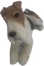 "SANDICAST WIRE HAIRED FOX TERRIER DOG STATUE SCULPTURE 10x6.5"" S.Brue 4Lbs. - $23.99"