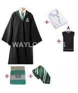 Slytherin Cosplay Costume Slytherin Robe Scarf Tie Set - $69.39