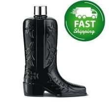 Avon Black Suede Boot Decanter Cologne Splash - $34.65