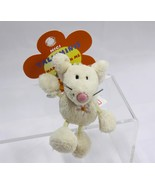 "NICI Mouse Beige Animal Plush Stuffed Toy Beanbag Key Chain Keyring 3"" - $8.50"
