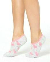 Charter Club Womens Gray Pink Hearts Fuzzy Cozy Super Soft Socks NEW w Tags
