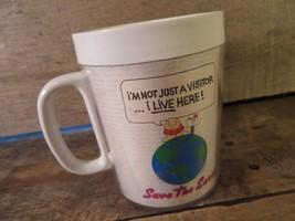 Ziggy Save The Eath Caffè Tazza Plastica 1990 - $9.86