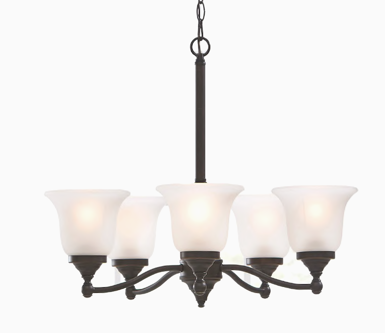 Primary image for NEW Portfolio Roseall 5 Light Oil Rubbed Bronze Traditional Chandelier