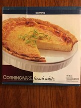 """Vintage Corning Ware 10"""" Quiche Pie Plate 1995 French White NEW Unopened Box - $24.74"""