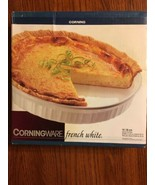 """Vintage Corning Ware 10"""" Quiche Pie Plate 1995 French White NEW Unopened... - $24.74"""