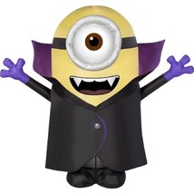 Halloween Inflatable 4 1/2' Minion Stuart Vampire By Gemmy NEW - $60.76