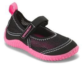 NEW Speedo Kids Toddler Girls Black Pink Mary Jane Beach Pool Surf Water Shoes