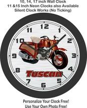 The Tuscan Caterpillar Motorcycle Wall Clock-Free USA Ship - $28.70+