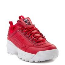 Neu Damen FILA Disruptor II Athletic Schuhe Rot 2 - $99.86
