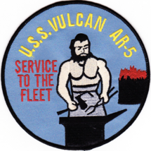 "5"" USS NAVY AR-5 VULCAN EMBROIDERED PATCH - $17.09"