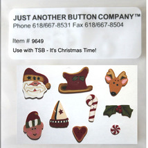 Button Pack 9649 It's Christmas Time Just Another Button Company - $22.80