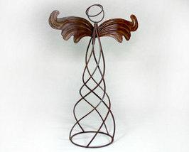 Large Metal Rustic Willow Smoke Angel - $18.95