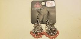 Paparazzi Earrings (New) Baroque The Bank Orange #0071 - $8.58