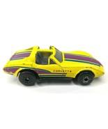 Matchbox Chevy Corvette T-Tops Original 1979 Yellow with Purple Racing S... - $18.33
