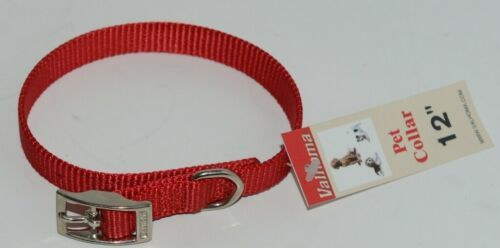 Valhoma 720 12 RD Dog Collar Red Single Layer Nylon 12 inches Package 1