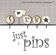 S Is For Sew Just Pins JP153 set 5 for pincushions JABC Just Another Button - $13.05