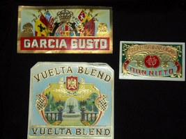 Vintage Cigar Box Labels! Garcia Gusto - Don Ni... - $14.97