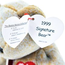 1999 TY Beanie Baby Signature Bear Embroidered Heart Beanbag Plush Toy Doll image 7