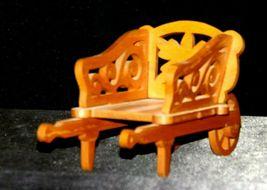 Wood wheel barrel replica with scroll cut Design AA19-1637 Vintage image 8