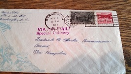 1953 20¢ Special Delivery and 6¢ Air Mail Stamp... - $5.25