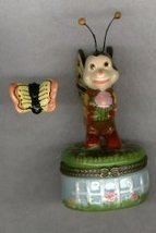BUTTERFLY BUG HINGED BOX - £8.45 GBP