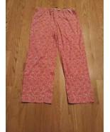 Jockey women's pajama pants, pink with hearts, size L Large - $9.90