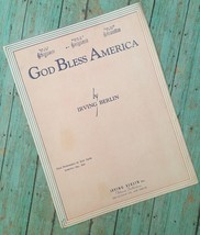 Vtg God Bless America Irving Berlin Sheet Music 1939 Collectible Crafts - $8.90