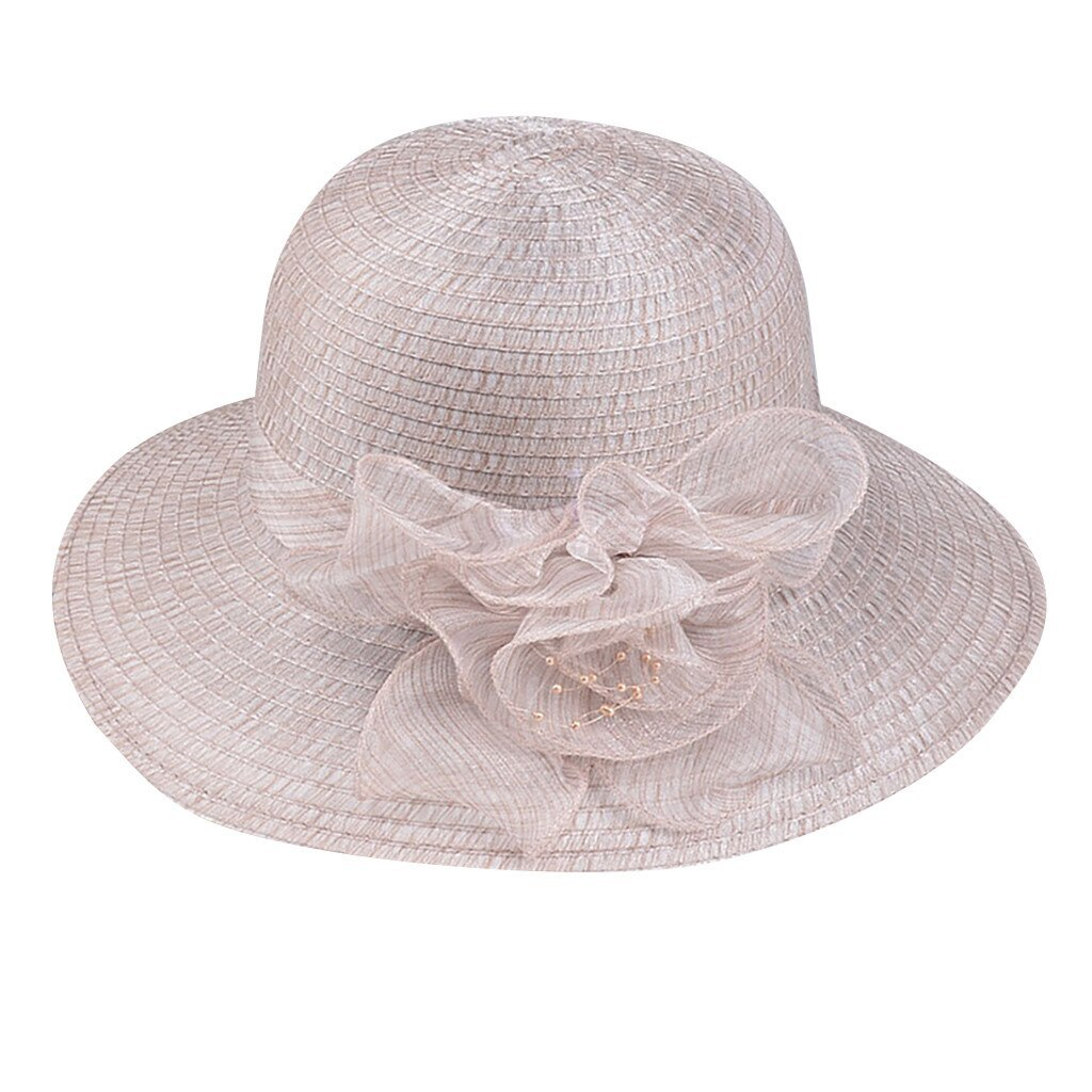 Womail Hat  1PC  Solid Cap Fashion Floppy Foldable Ladies Women Solid Straw Cap